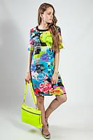 Платье-туника летнее цветное яркое
