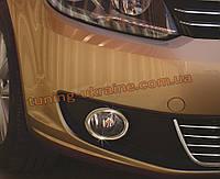 Накладки на противотуманки Carmos на Volkswagen Caddy 2010