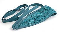 Стильный бирюзовый женский пояс завязка (100438)