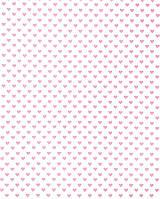 Подарочная бумага (упаковочная) белого цвета в бледно розовых сердечках
