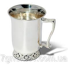 Чашка серебряная чайная Грация