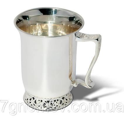 Чашка серебряная чайная Грация , фото 2