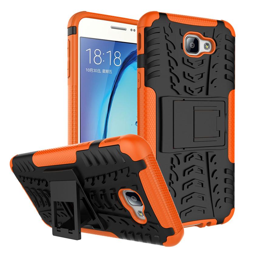 Чехол Samsung J5 Prime / G570F противоударный бампер оранжевый