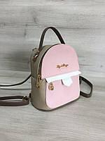 Рюкзак из кожзама комбинированный