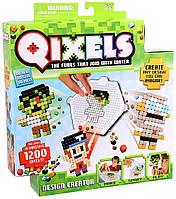 Игровой набор аквамозаики из пикселей  ДИЗАЙНЕР 1200 фишек, спрей, шаблоны Qixels (87020)