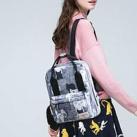 Сумка-рюкзак с серыми котами