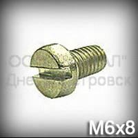 Винт М6х8 ГОСТ 1491-84 (DIN 84, ISO 1207) кадмированный (маслоотражателя подшипника полуоси ВАЗ 2101-07)