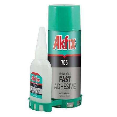 Универсальный клей-гель Akfix 705 Fast Adhesive с активатором 100 грамм, фото 2