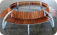 Лавка вулична садово-паркова кругова., фото 1