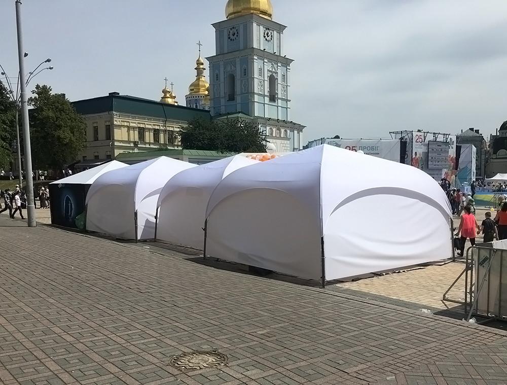 """Палатка торговая, для отдыха - """"Парк"""" 4х4 метра со шторами"""