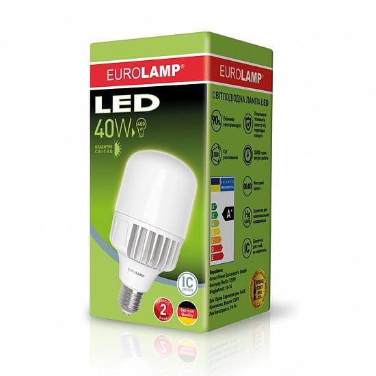 Высокомощная светодиодная LED лампа EUROLAMP 40W E40 6500K
