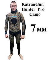 Гидрокостюм подводная охота KatranGun Hunter Pro Camo 7 мм, фото 1
