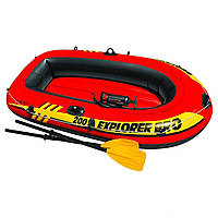 Полутораместная надувная лодка Intex 58357 Explorer Pro 200 Set, 196 х 102 х 33 см, фото 1