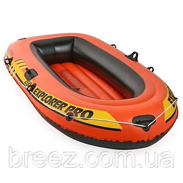 Полутораместная надувная лодка Intex 58357 Explorer Pro 200 Set, 196 х 102 х 33 см, фото 2