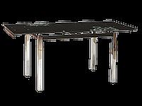 Стол ТВ014 черный 960(+2вставки по 30)х700мм, без узоров