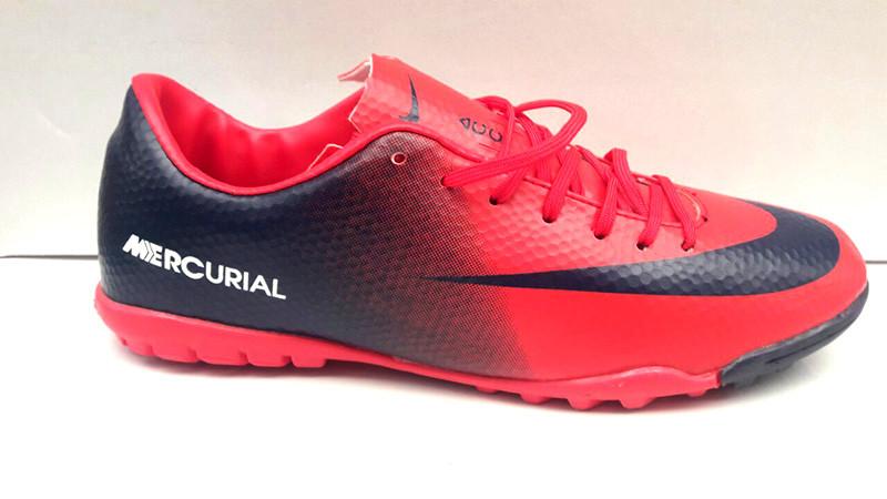 a438d30a Кроссовки-сороконожки мужские Nike Mercurial футбольные красные Ni0154