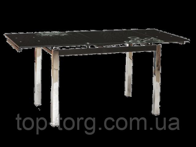 Стол стеклянный ТВ014 TB014 черный