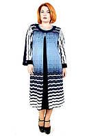 Батальное женское платье АМБРЕ ВОЛНА ТМ Ирмана 62-68 размеры