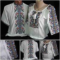 """Национальные рубашки для пары """"Летняя прохлада"""", домотканка, 42-58 р-ры, 1300/1200 (цена за 1 пару + 100 гр.)"""