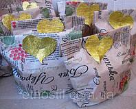 Сердечные подарки, упаковка и свечи.