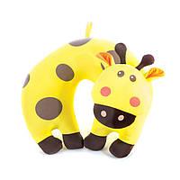 Детская дорожная подушка Spokey BAMBINI жираф (original) подголовник,для сна и отдыха туристическая