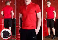 Комплект Mr.Bull футболка поло (красная) + шорты и барсетка Nike в ПОДАРОК !, фото 1