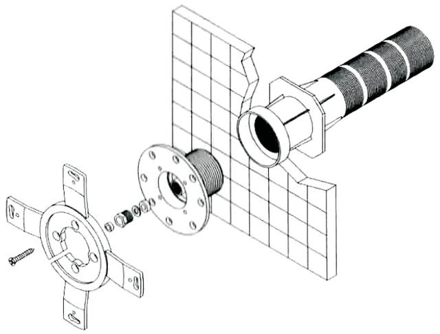 монтаж галогенного настенного прожектора Kripsol РEH101.С под бетон