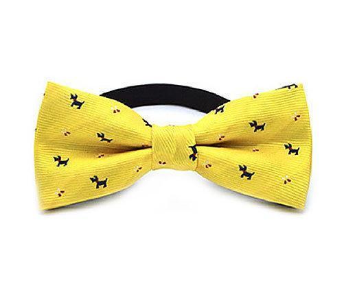Детский галстук бабочка для мальчика желтый