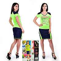 Женский комплект футболка + юбка. VOGUE 10127. Размер 44-46.