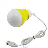 Лампочка LED BULB USB желтая