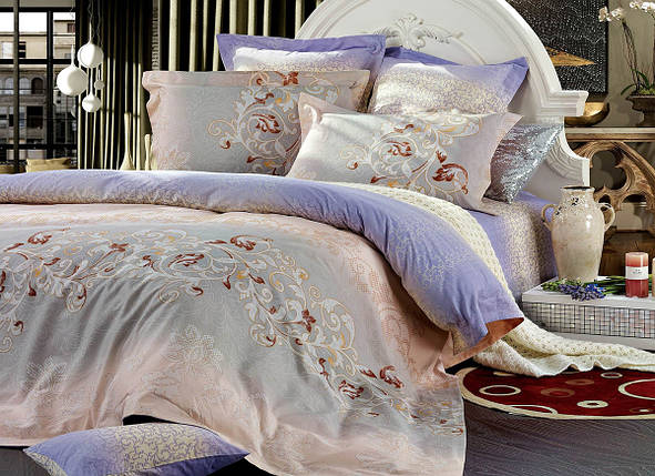 Двуспальный комплект постельного белья 180*220 сатин (7482) TM KRISPOL Украина, фото 2