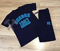 Спортивный костюм летний комплект мужской шорты и футболка Reebok Рибок