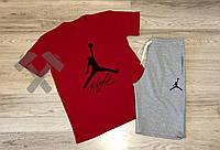 Спортивный костюм летний комплект мужской шорты и футболка Jordan Flight Джордан
