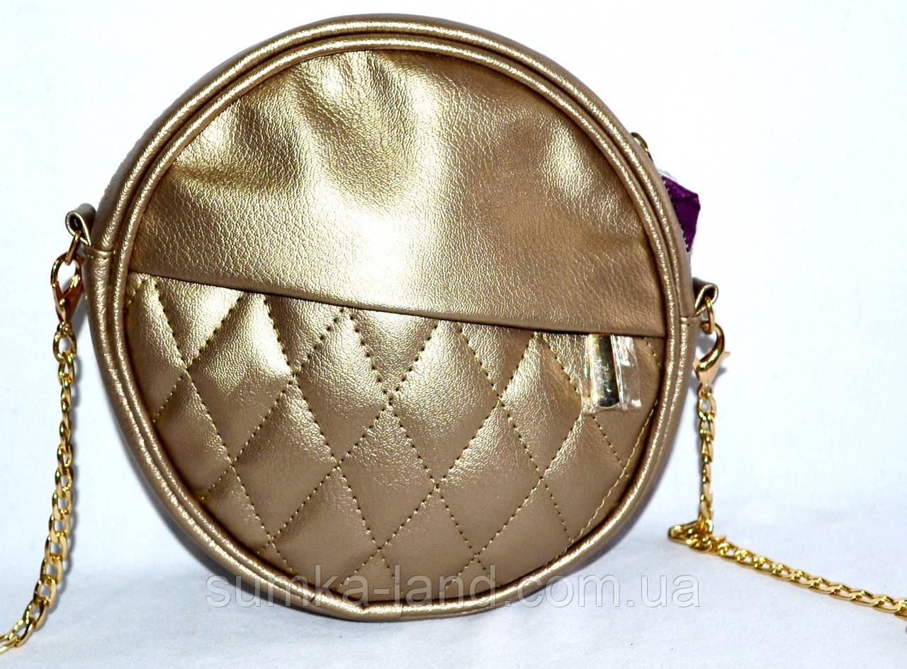 Женский летний клатч Хит продаж 21*21 (золото)