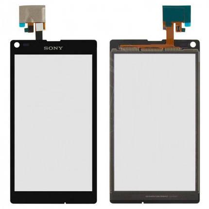 Сенсор (тачскрин) Sony C2105 Xperia L S36h черный Оригинал, фото 2
