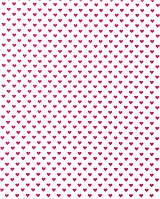 Подарочная бумага (упаковочная) белого цвета в ярких розовых сердечках