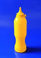 Бутылочка желтая для соуса с носиком и колпачком (250 мл)