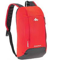 Рюкзак красный с серым легкий, городской и велосипедный, 10 Л