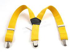 Детские подтяжки-резинка желтого цвета (100415)