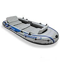 Пятиместная надувная лодка Intex 68325 Excursion 5 Set, 366 х 168 х 45 см, фото 1