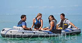 Пятиместная надувная лодка Intex 68325 Excursion 5 Set, 366 х 168 х 45 см, фото 2