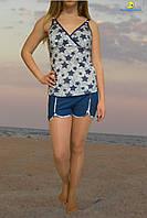 Комплект молодежный женский шорты и майка, от 44 до 48 размеры, Украина