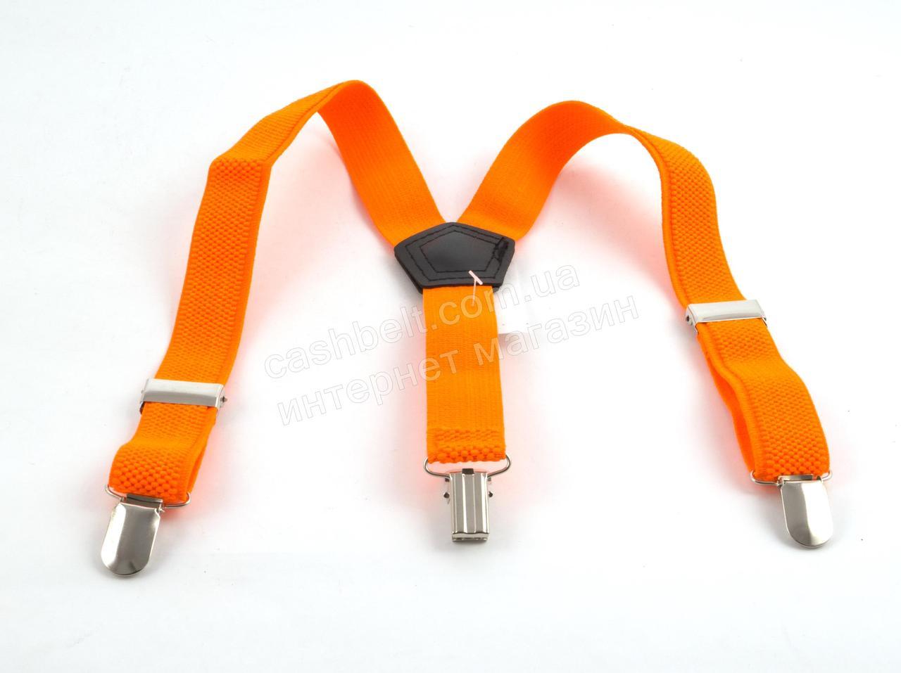 Дитячі підтяжки-гумка кислотно оранжевого кольору (100411)