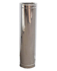 Трубы 1м для дымохода из нержавеющей стали с термоизоляцией в нержавеющем кожухе