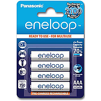 Аккумуляторы eneloop panasonic r03/aaa 750mah 4 штуки (bk-4mcce/4be)