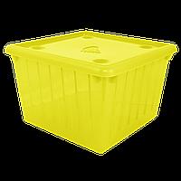 Контейнер с крышкой для хранения вещей Ножка (желтый) 25 л