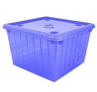 Контейнер с крышкой для хранения вещей Ножка (синий) 25 л
