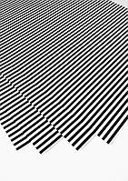 Подарочная бумага (упаковочная) белого цвета в чёрную полоску