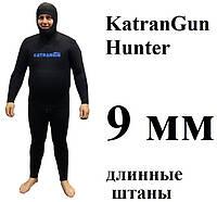 Гидрокостюмы для зимней подводной охоты KatranGun Hunter 9 мм; штаны с лямками; нейлон/открытая пора