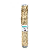 Когтеточка-тубус на веревке Пушистики (сизаль) серая  55 см